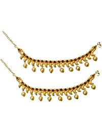 Confidence Designer Beautiful Payal, Anklet Pair For Girls, Gold Plated Anklets For Women Traditional, Golden,...
