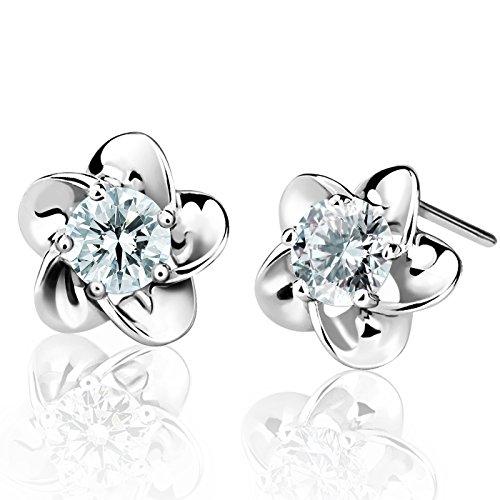 Dothnix Ohrringe Silber 925 Damen Ohrringe Blumen Ohrschmuck Geburtstag Valentinstag Geschenk für Frauen Freundin Mutter Tochter