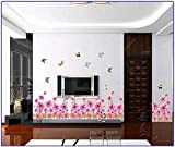 UberLyfe Pink Sunflowers Border Wall Sticker Size 3 (Wall Covering Area: 50cm x 105cm) - WS-001383