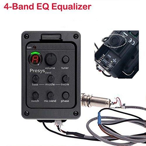 EQ 4 Band Piezo Equalizer Akustische & Klassische Gitarren Preamps Onboard Preamp- und Pickups-System Aktives Pickup-System mit integrierten Vorverstärkern für Akustikgitarre Presys Blend 301