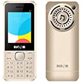 "Bloom DJ Phone With Digital Camera, 6.1cm (2.4"") QVGA Display, Dual Sim (GSM+GSM) Dual Standby, Memory Card Support, Bluetooth, Mp3 & Mp4 Player , LED Flash Light, Wireless Fm Radio, Video Recording And Playback, Gprs, 3.5 Mm Music Jack (Gold)"
