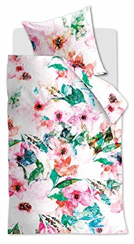 Beddinghouse Reine Baumwoll Bettwäsche 4 teilig Bettbezug 135 x 200 cm Kopfkissenbezug 80 x 80 cm Flower Boutique 172832 Floral Storm Multi
