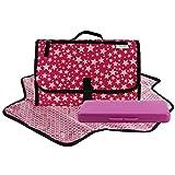 Toweter - Cambiador plegable impermeable para bebé con bolsa para pañales y funda para toallitas Star