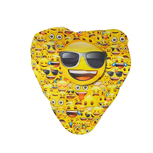 DRULINE Emoji Fahrrad Sattelbezug One Size 22 x 22 cm Smiley Sonnenbrille