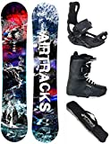 Airtracks Snowboard Set - Board Fantasy Wide 148 - Softbindung Master - Softboots Master QL 43 - SB Bag