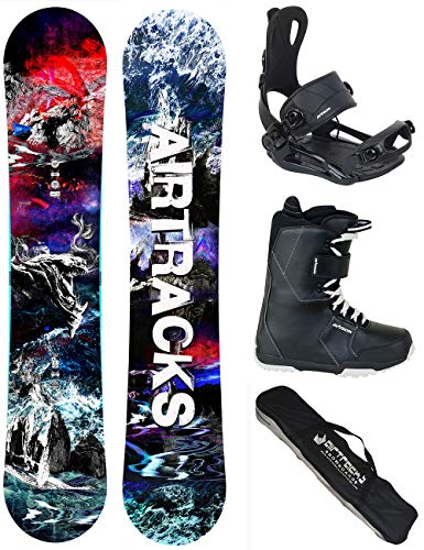 Airtracks snowboard set - tavola fantasy wide 153 - attacchi master - softboots savage black 41 - sb bag