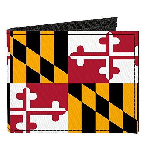 Buckle Down Unisex Canvas Maryland Flag Bi-Fold Wallet
