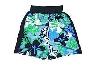 Splash About Kids Splash Board Shorts - Blue/Green, Child small (48cm waist)