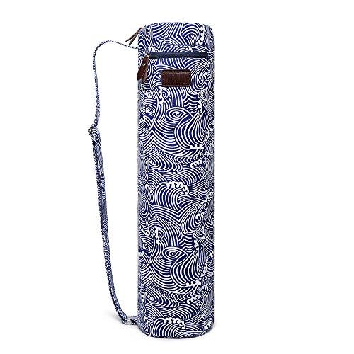 Fremous Yogamatten-Tasche und -Träger für Frauen und Männer - tragbare Multifunktionsaufbewahrungstaschen, Leinen-Yogataschen, Wave
