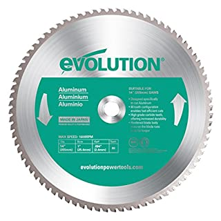 Evolution Power Tools Aluminium Carbide-Tipped Blade, 355 mm