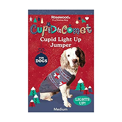 Rosewood Christmas Cupid Light Up Jumper For Dogs, Large 5