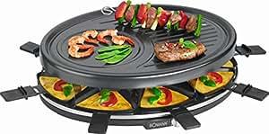raclette grill mit 8 antihaftbeschichteten pf nnchen tischgrill elektrogrill f r 8. Black Bedroom Furniture Sets. Home Design Ideas