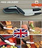 SystemsEleven® Clever Cutter 2-in-1 Messer & Schneidebrett Schere wie im Fernsehen gesehen