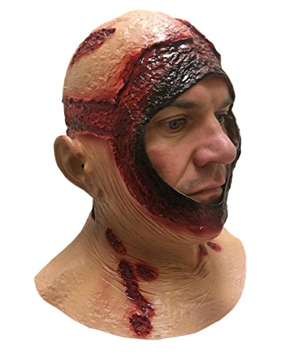 BLUTIG KAPUZE MASKE Mit kapuze Latex Jason Halloween Horror Film Kostüm (Maske Halloween Film)
