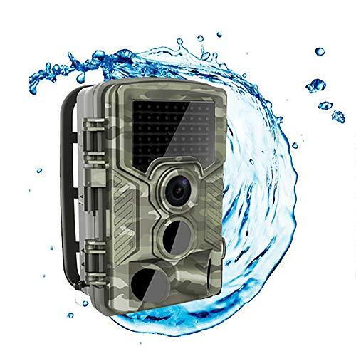 MINSENPIJU HD-Kamera für Wilde Tiere, wasserdichte HD-Infrarot-Überwachungskamera für Nachtsichtsensoren im Freien für Natur im Freien, Garten, Überwachung der Sicherheit zu Hause -