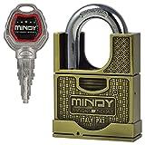 MENGS® AF1 60mm Antifressing Messing antike Vorhängeschloss mit 4 Schlüssel für Schule, Fitnessraum Schließfächer, Fälle, Ketten, Schränke, usw.
