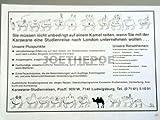 70er Jahre : Anzeige: REISEZIEL KARAWANE STUDIENREISEN - Format: ca. 170 x 115 mm - alte Werbung /Originalwerbung/ Printwerbung /Anzeigenwerbung