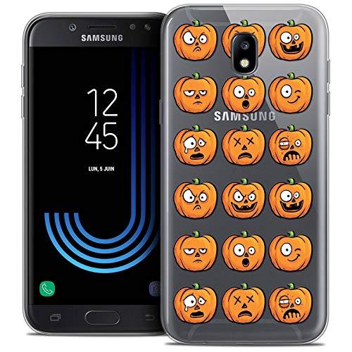 (Caseink Schutzhülle für Samsung Galaxy A32016(A310) [Crystal HD Collection Halloween Design Kahlen Kürbis–Hartschale–Ultra Ende–bedruckt in Frankreich])