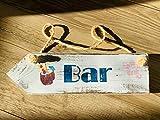 Shabby chic Holzschild'Bar'