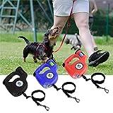 GeMoor 4,5 m LED Taschenlampe ausziehbare einziehbare Haustier Hundeleine mit Müllsack