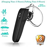 #7: Mobile Gabbar Genai Bluetooth Headset With Mic For Samsung, Motorola, Sony, Oneplus, HTC, Lenovo, Nokia, Asus, Lg, Coolpad, Xiaomi, Micromax and All Android Mobiles Bluetooth Headphones With Mic
