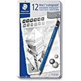 Staedtler Mars Lumograph Drawing Pencil for Design and Drafting - Pack of 12