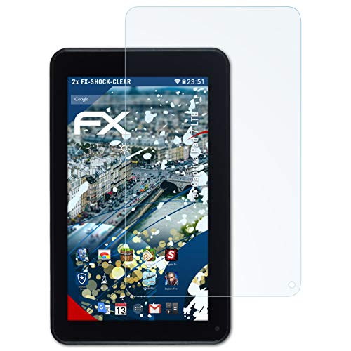 atFolix Schutzfolie kompatibel mit Captiva Pad 7 LTE Panzerfolie, ultraklare & stoßdämpfende FX Folie (2X)