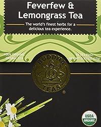 Feverfew & Lemongrass Tea - Organic Herbs - 18 Bleach Free Tea Bags