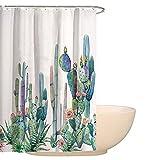 Floral Waterfall fiore decorazioni per la casa tenda doccia astratto erbe infestanti Blossoms impermeabile Mildewproof digitale stampato poliestere bagno tende con ganci free hyc08-e 59' x 71' #3