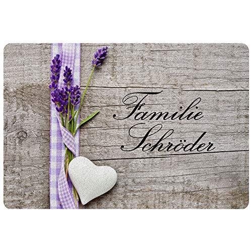 Personalisierte Fußmatte Landhaus - Fußmatten mit Namen Bedrucken - Geschenkidee zum Einzug - schönes Geschenk für Paare, Eltern, Freundin