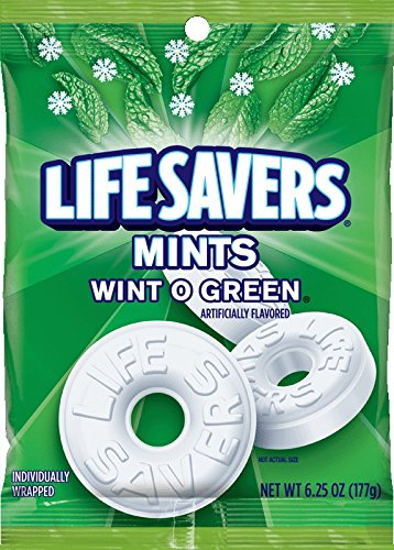 Life Savers Lifesavers Wint O Green Bag, 3er Pack (3 x 177 g)