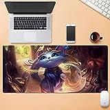 Dmsbzd Yuumi The Magical Cat Magia Cat Gaming Mouse Pad League of Legends PC Big Table Mat Size Stare Tranquillo Scivolare Serratura del Computer Portatile Rilievo della Tastiera