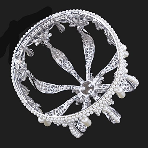 Santfe 4.5 Altura Tiara Diadema Con Rhinestones Para Fiesta Boda Novia Boda Corona de cristal Prom Party