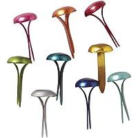 Rayher 8916149 Attaches parisiennes, métal, multicolore, effet satiné, lot de 100 pces., têtes rondes 4mmX9mm, bureau…