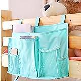 Surenhap Bettasche Aufbewahrungstasche, Multifunktionale Aufhängen Organizer mit 8 Fächern und 3 Befestigungsschnallen (Grün)