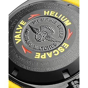 Memphis Belle t12pbk13.d2–Orologio, cinturino in gomma colore nero