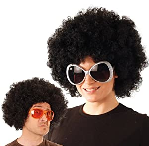 Party Pro-perruque, unisex adulto, 865503, Negro, talla única