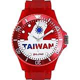 Montre PICONO - Affichage bracelet Silicone Rouge et Cadran Rouge BA-FR-03