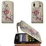 Handy Tasche Flip Style - Design No.7 - Cover Case Hülle Etui für Samsung S5830 Galaxy Ace