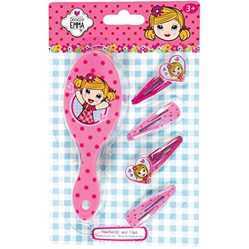 Coppenrath 99045 Haarbürste und Clips Doodle Emma