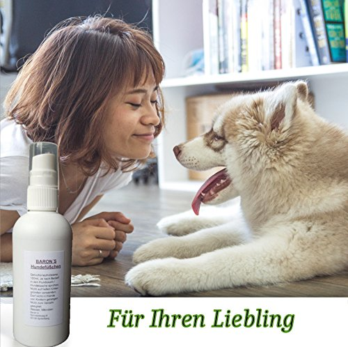 Hundebesitzer brauchen das! HundeDeo, Geruchsneutralisierer, Geruchskiller, Geruchsvernichter, rein Natürlich für Hundekörbchen-Decken-Boxen-Taschen, Hundehütten von Baron's *Hundefüßchen*