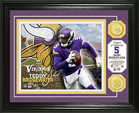 NFL Minnesota Vikings Teddy Bridgewater Bronze Coin Photo Mint, 17