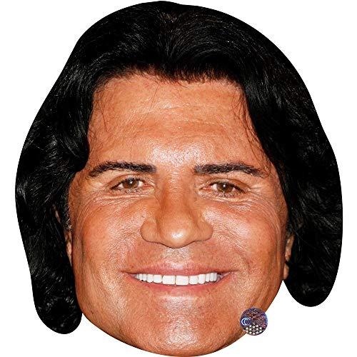 Kostüm Sportler Männer - Celebrity Cutouts Costa Cordalis (Smile) Maske aus Karton