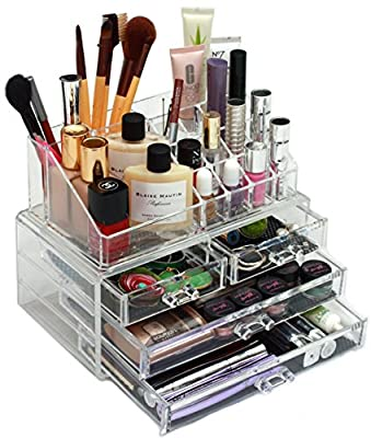 GlamBox Crystal Clear MakeUp Organiser - Helps You Look A Million Dollars And Saves You Money Too!