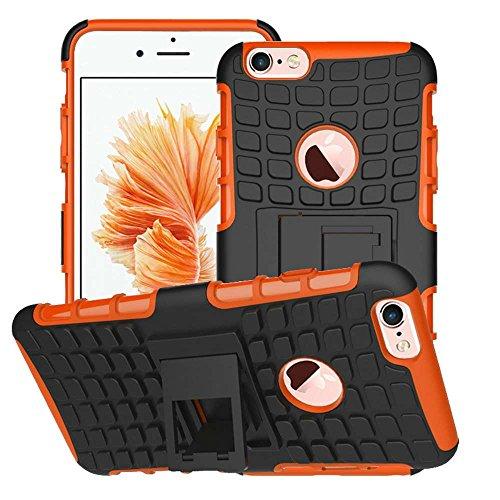 """iPhone 6S/6 Plus Coque AOFad Béquille Vidéo Protection des lourds rouge noir Plastique TPU Hybride Antiskid 2 à 1 Série Pour Femme Homme Accessoires Case 5.5"""" -A82 AOFad Style 100"""