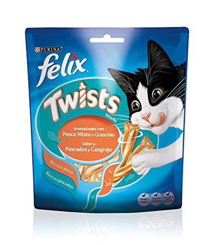FELIX Twists pesce misto e granchio 50gr - Snack per gatto