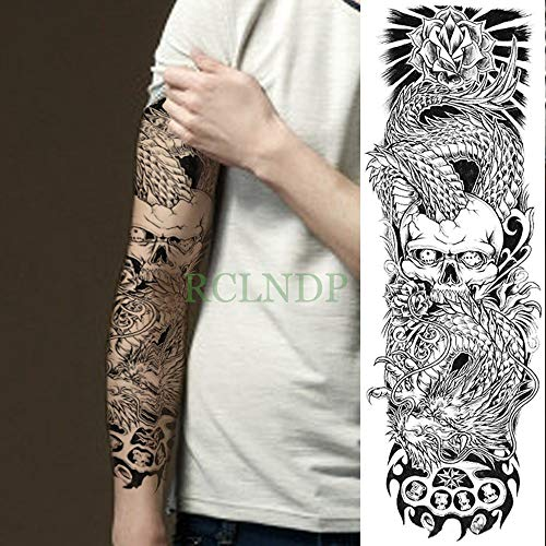 3pcs-a Prueba de Agua Pegatinas Tatuaje Temporal Flor Phoenix niñas de Aves de Todo el Brazo Mariposa Tatto Tatoo Tatuajes para Hombres Mujeres 3pcs