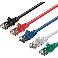 Rankie Cavo Ethernet, Rete CAT6 con Connettori RJ45, 1,5m, Pacco da 5-Colore