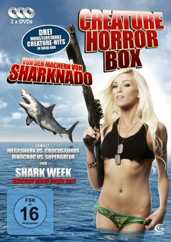 Die Creature Horror Box - Boxset mit 3 Creature-Horrorfilmen: Megashark VS Crocosaurus, Dinocroc VS Supergator, Shark Week (3 DVDs)