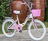 Qian Yi Sicherheits Kinderfahrrad mit Umwerfer und Scheibenbremse, Faltbar Premium Kinderfahrrad, Mädchenfahrr Stufe 6 Variable Speed (Rosa, 26 Zoll)